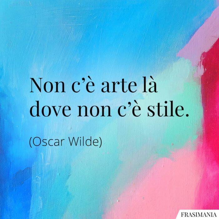 Frasi arte stile Wilde