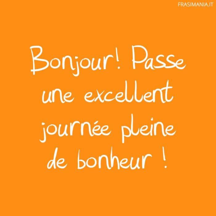Frasi buongiorno francese bonheur