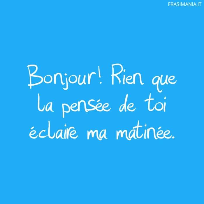 Frasi buongiorno francese pensée