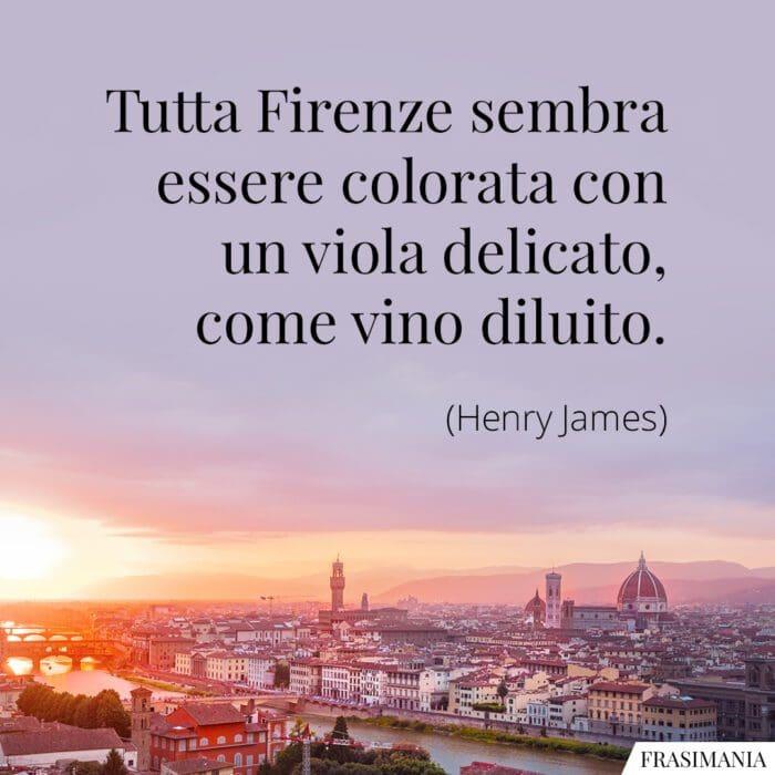 Frasi Firenze viola vino James