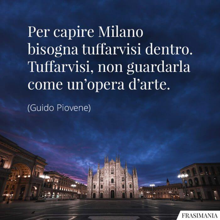 Frasi Milano arte Piovene