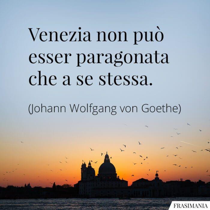Frasi Venezia Goethe