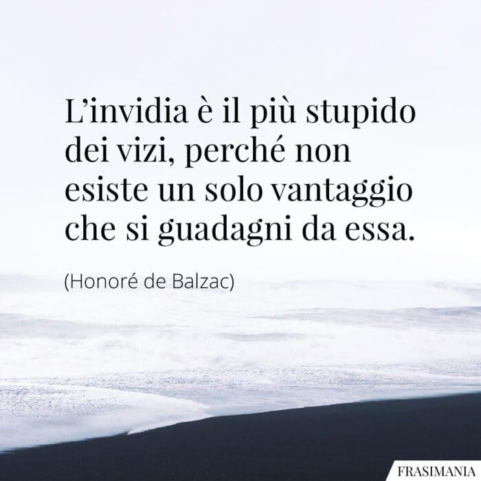 Frasi invidia stupido vizi Balzac