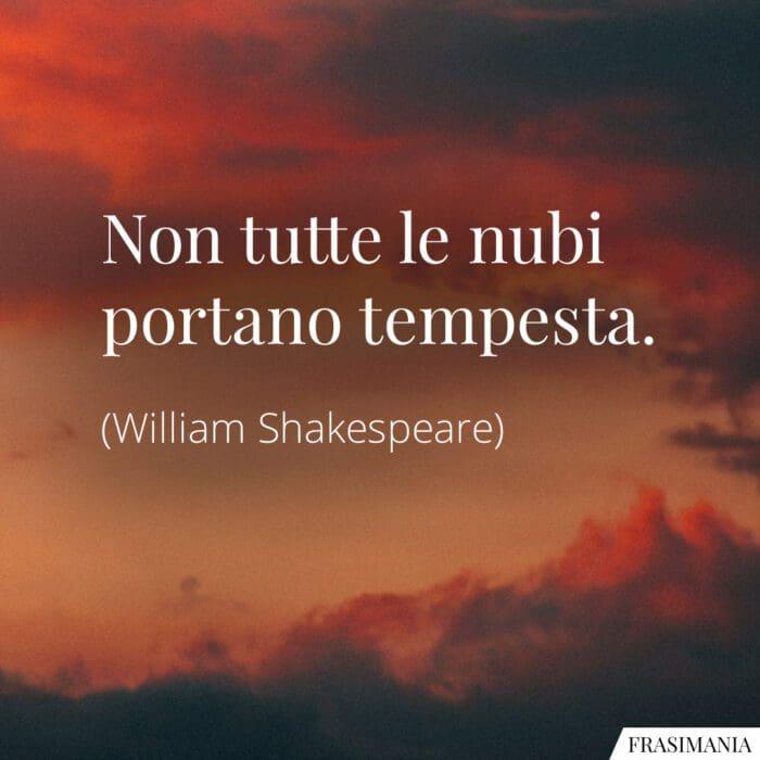 Frasi nubi tempesta Shakespeare