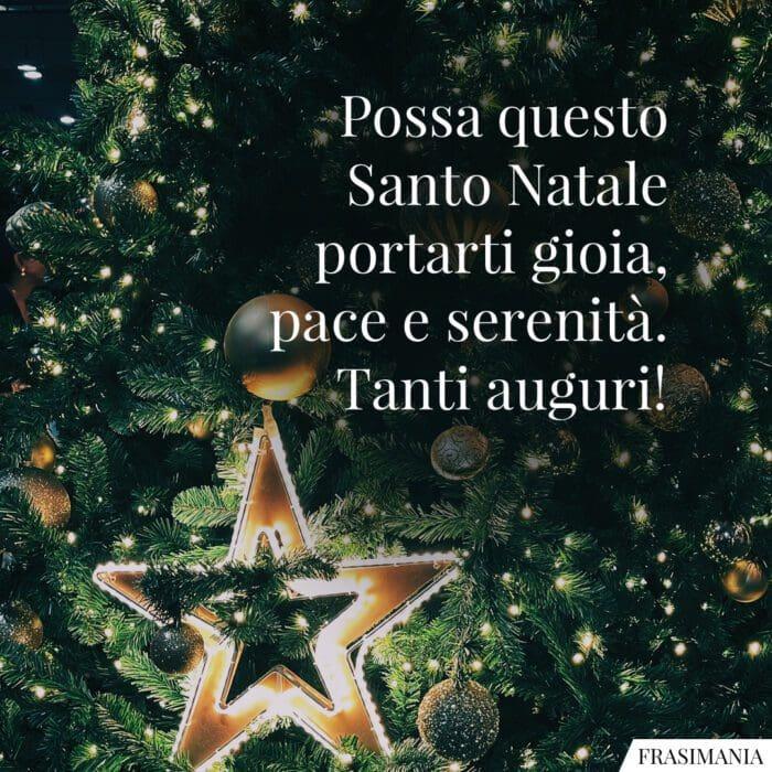 Auguri Natale religiosi Santo