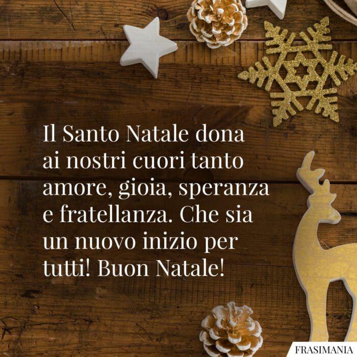 Auguri Natale religiosi speranza