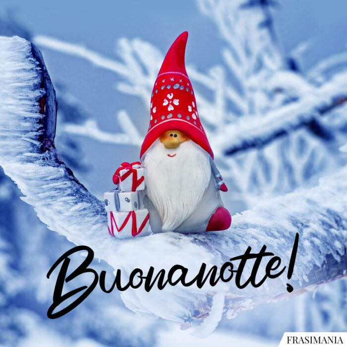 Buonanotte natalizia buonanotte