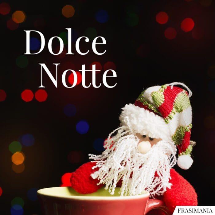 Buonanotte natalizia dolce