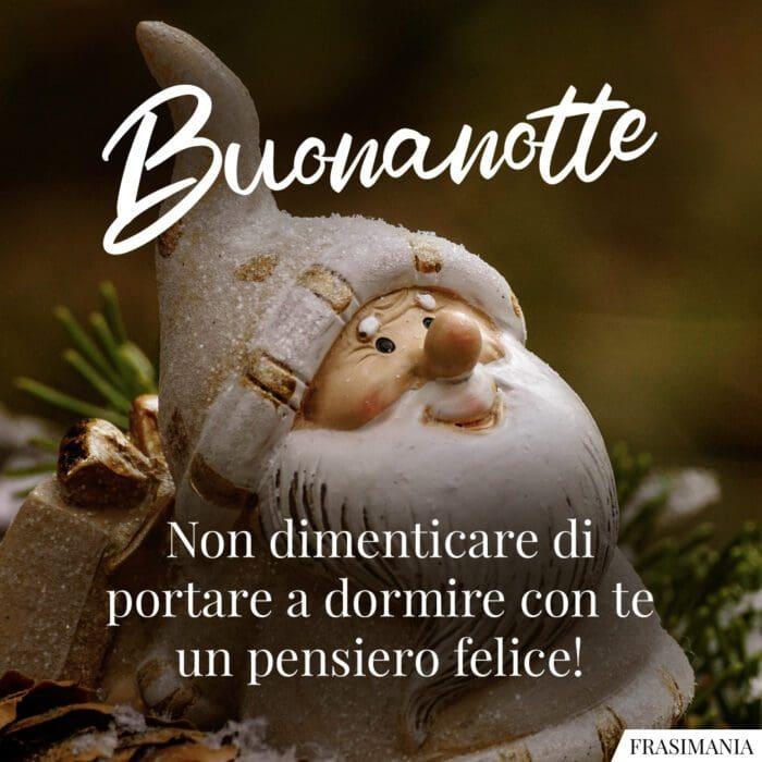 Buonanotte natalizia felice