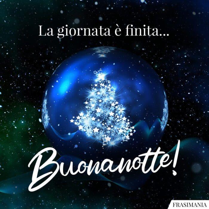 Buonanotte natalizia giornata