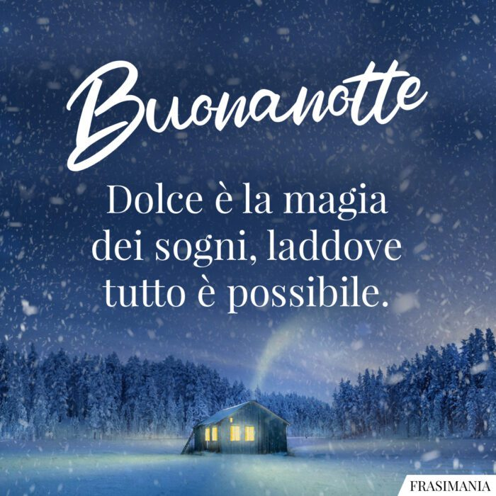 Buonanotte natalizia magia