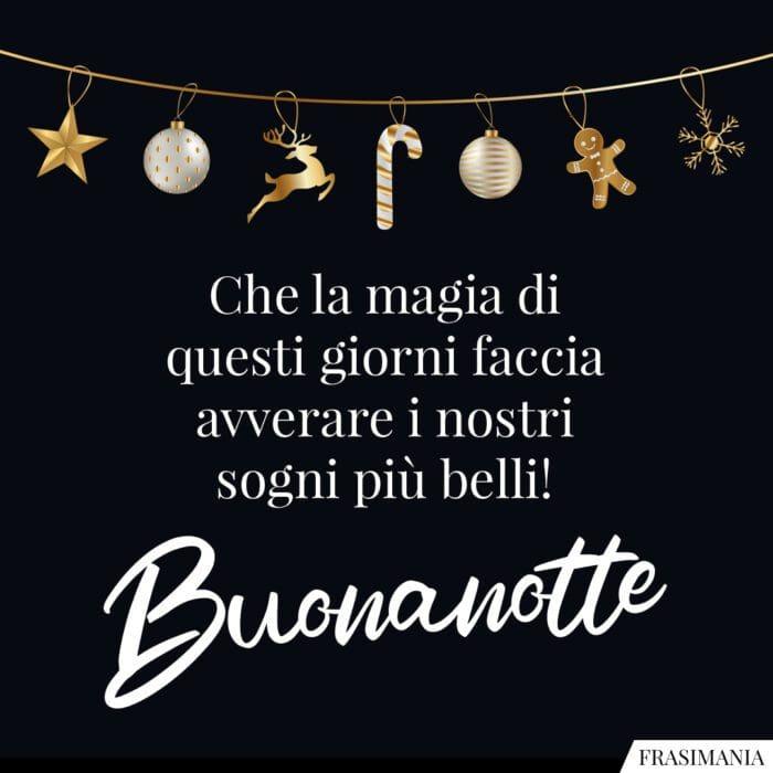 Buonanotte natalizia magia sogni
