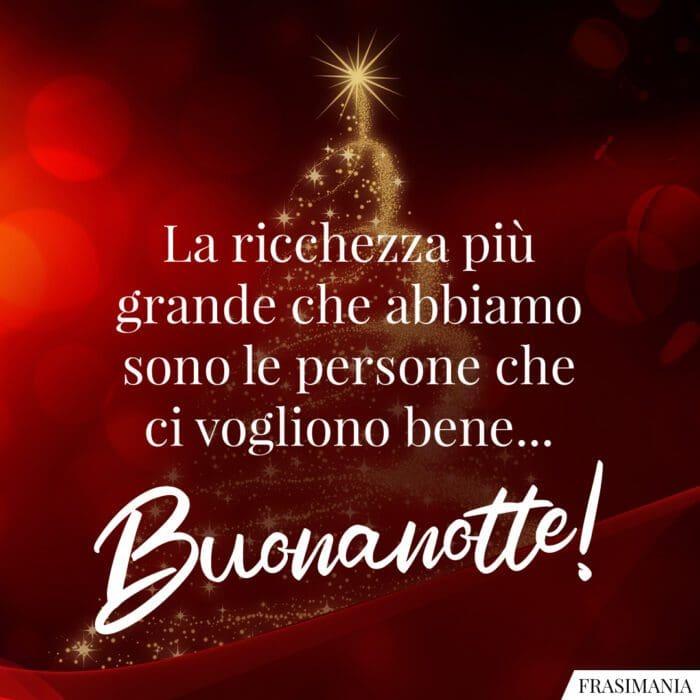 Buonanotte natalizia ricchezza