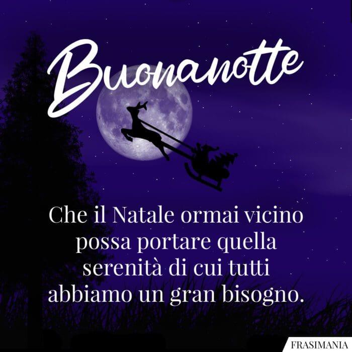Buonanotte natalizia serenità