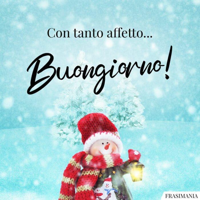 Buongiorno natalizio affetto