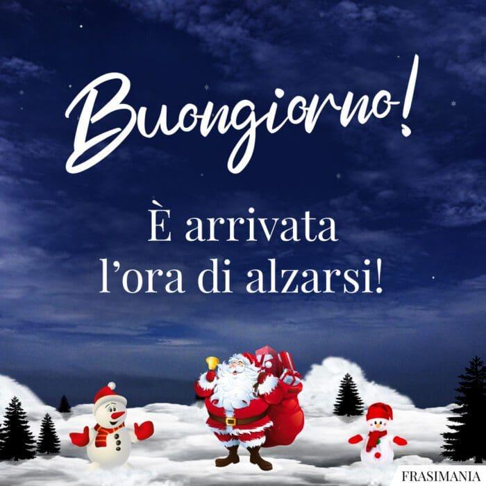 Buongiorno natalizio alzarsi