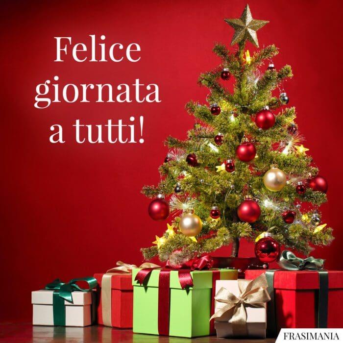 Buongiorno natalizio felice