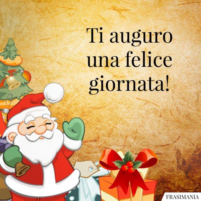 Buongiorno natalizio felice giornata