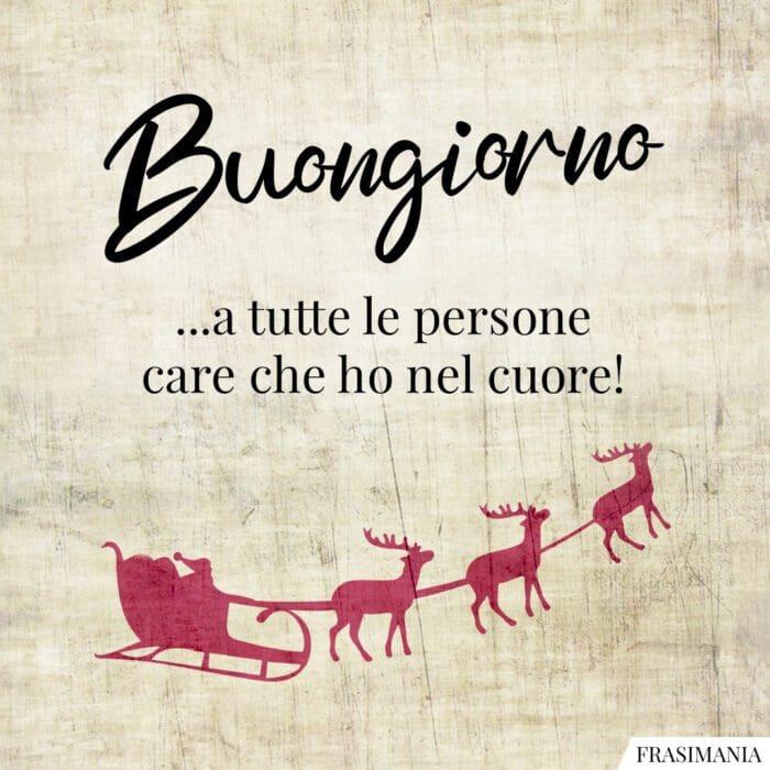Buongiorno natalizio persone