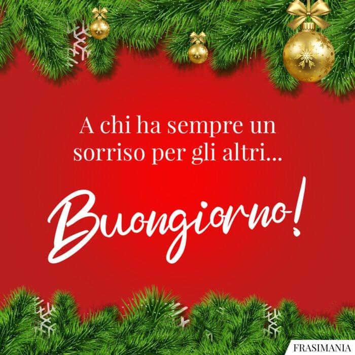 Buongiorno natalizio sorriso