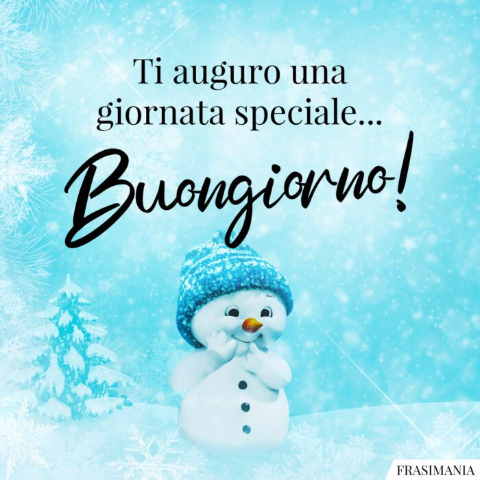 Buongiorno natalizio speciale