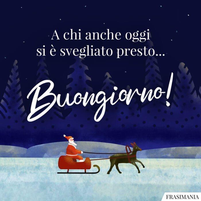 Buongiorno natalizio svegliato