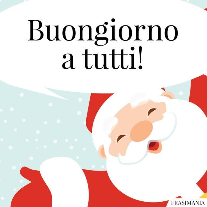 Buongiorno natalizio tutti