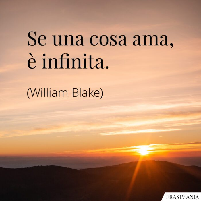 Frasi cosa ama infinita Blake