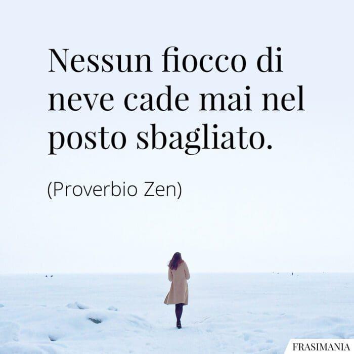 Frasi fiocco neve proverbio Zen