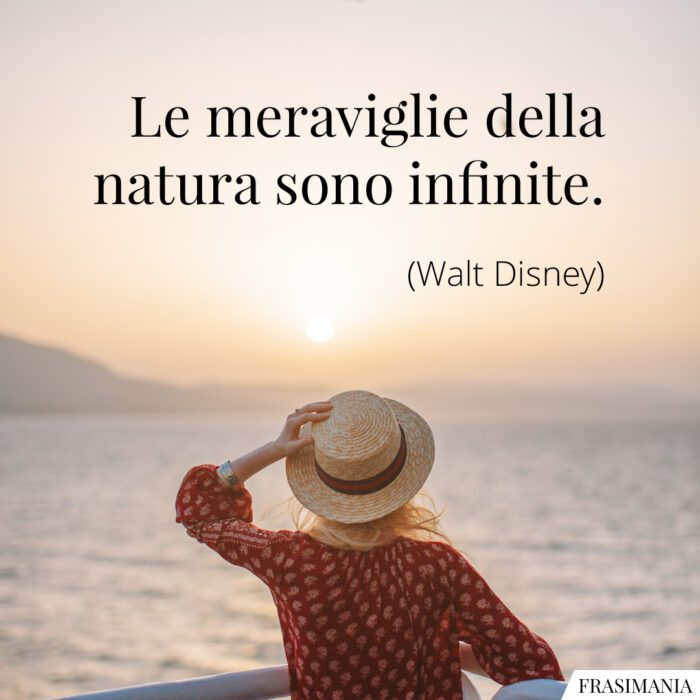 Frasi meraviglie natura Disney