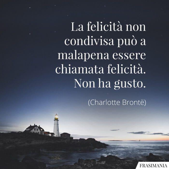 Frasi felicità condivisa Brontë