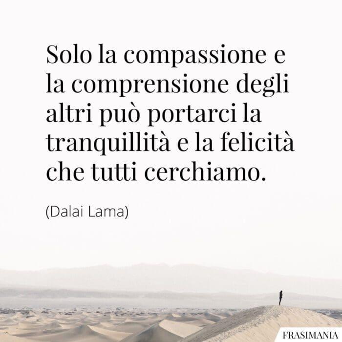 Frasi comprensione felicità Lama