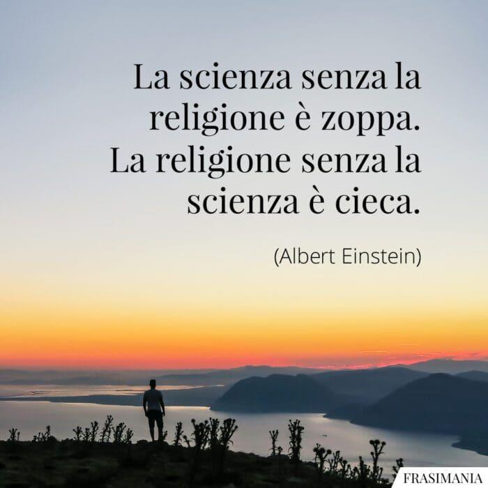 Frasi scienza religione Einstein
