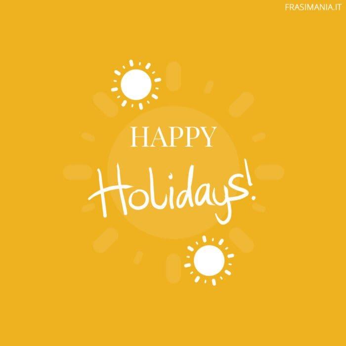 Buone vacanze inglese holidays