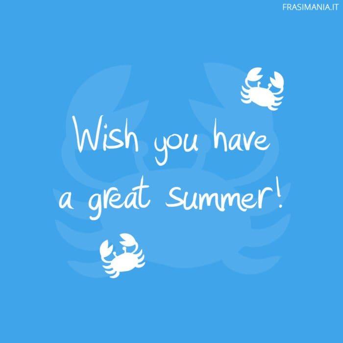 Buone vacanze inglese summer
