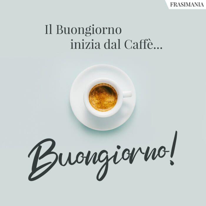 Buongiorno caffè inizia
