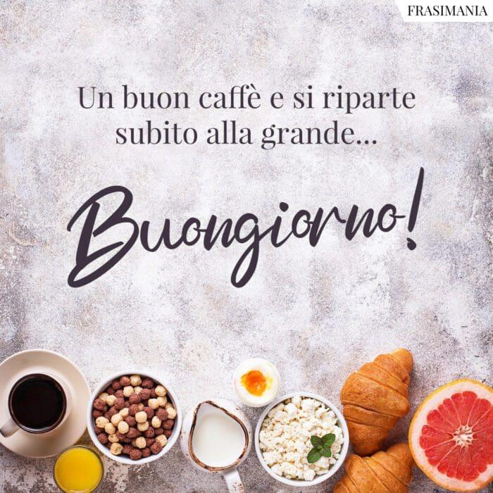 Buongiorno caffè riparte