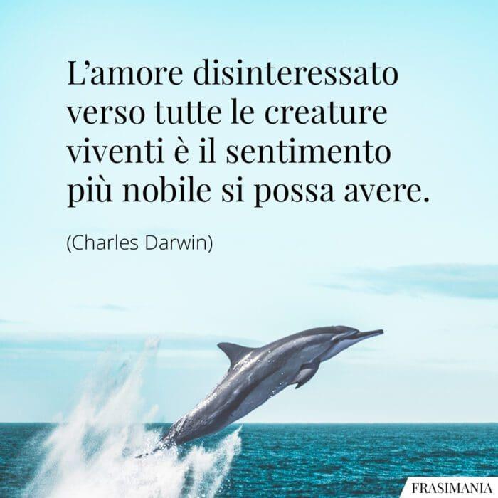Frasi amore creature viventi Darwin