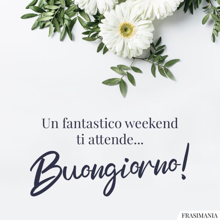 Buongiorno fantastico weekend