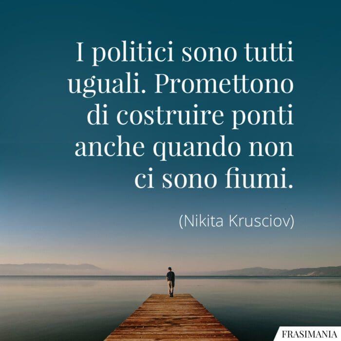 Frasi politici promettono ponti Krusciov