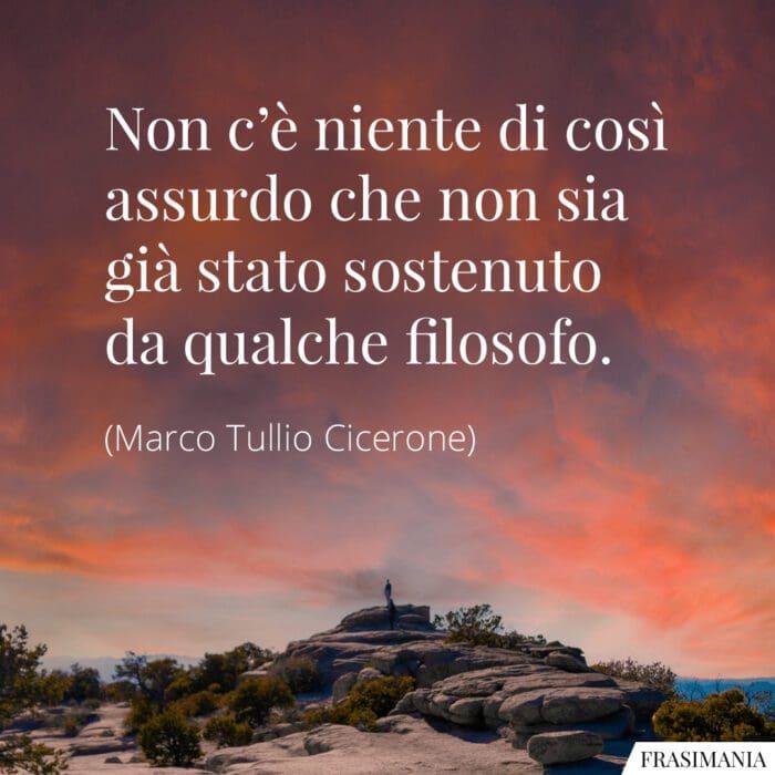 Frasi assurdo filosofo Cicerone