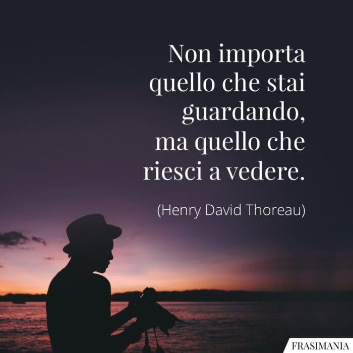 Frasi guardando vedere Thoreau